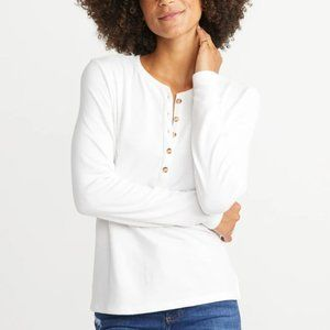 MARINE LAYER DOUBLE KNIT HENLEY IN NATURAL SHIRT